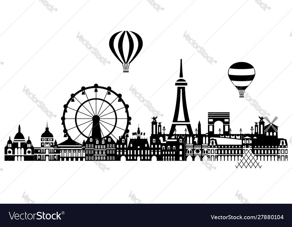 Paris city skyline 3