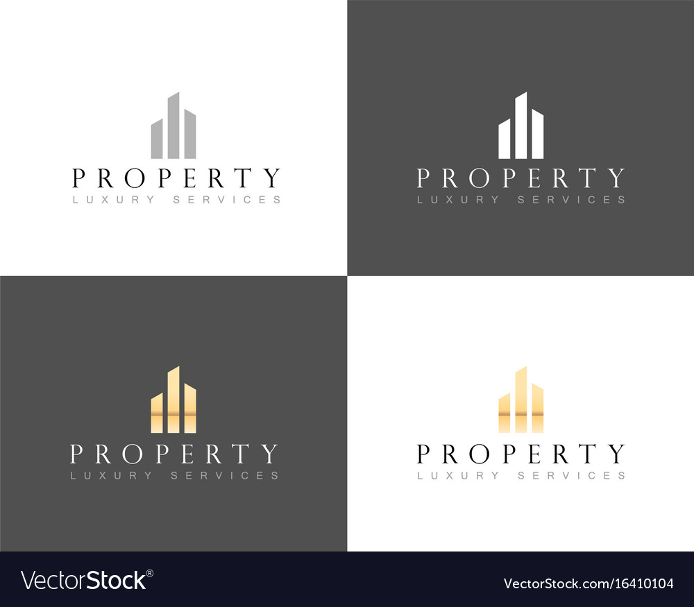 Real Estate Luxury Home Logo House Property And Vector Image Rh Vectorstock  Com Luxury Home Magazine