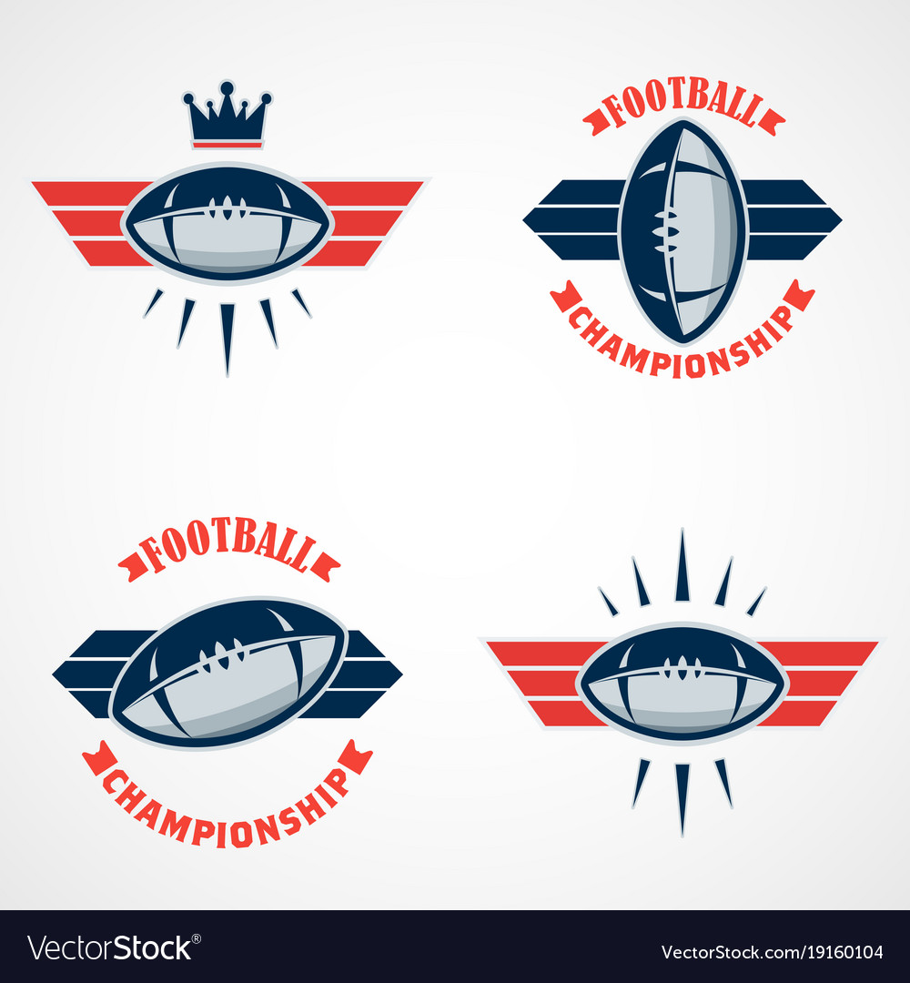 Set of american football logo template college