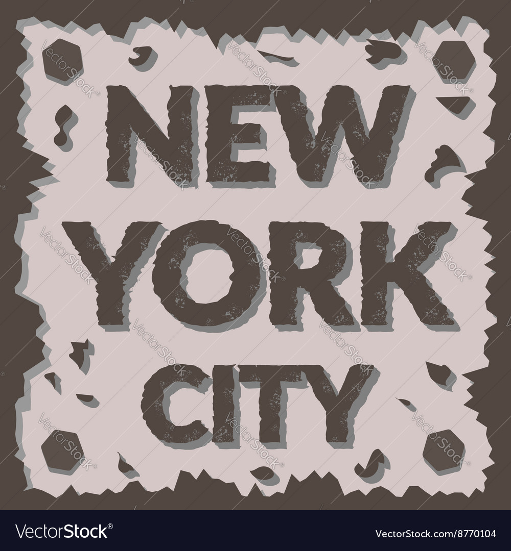 T shirt typography graphic New York city Grunge