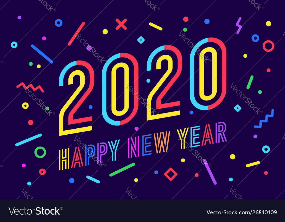 2020 happy new year greeting card happy new year