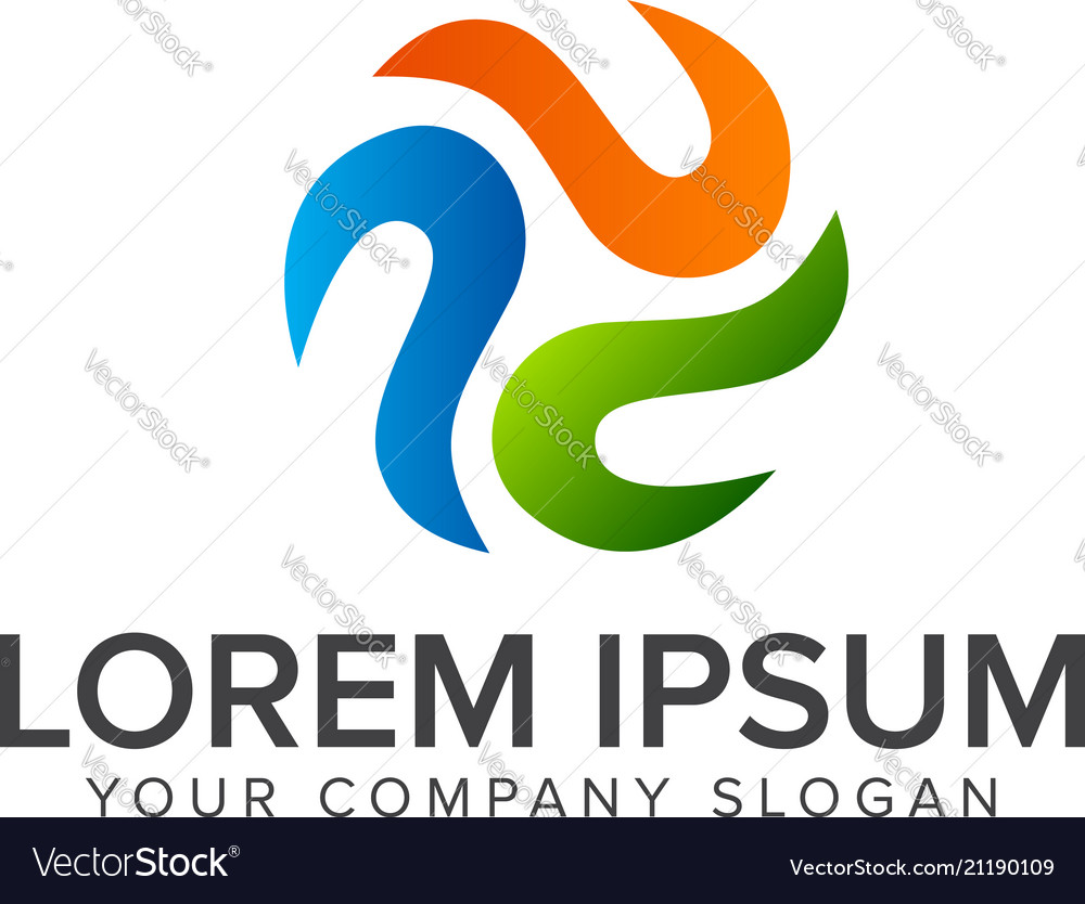 Abstract round business company logo