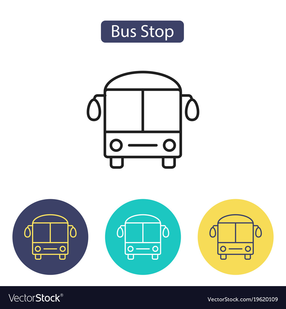 Bus stop sign transport image