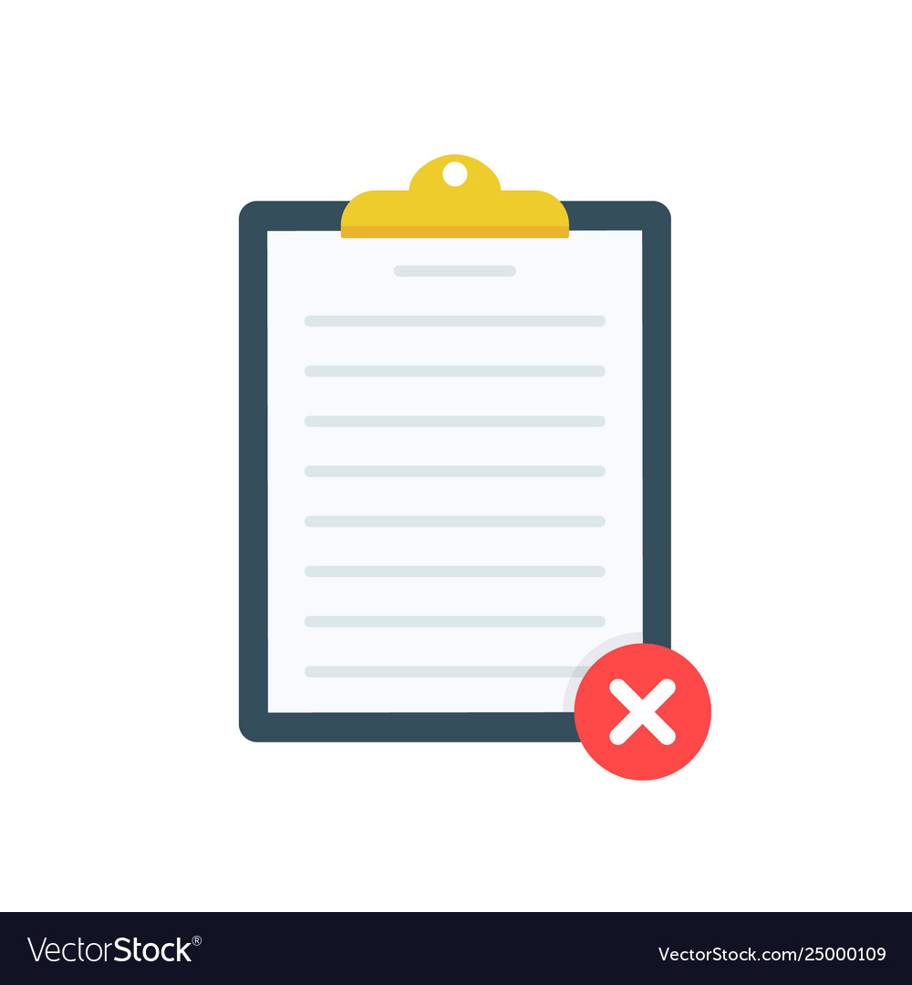 Clipboard with red x checkmarks checklist
