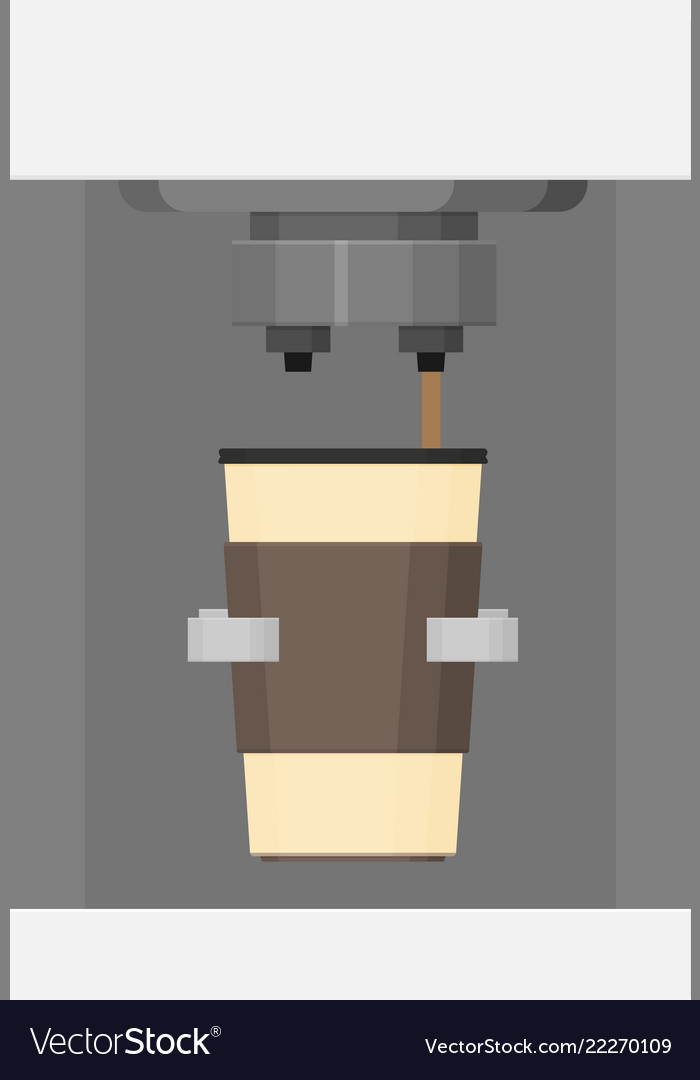 Coffee making with paper cup