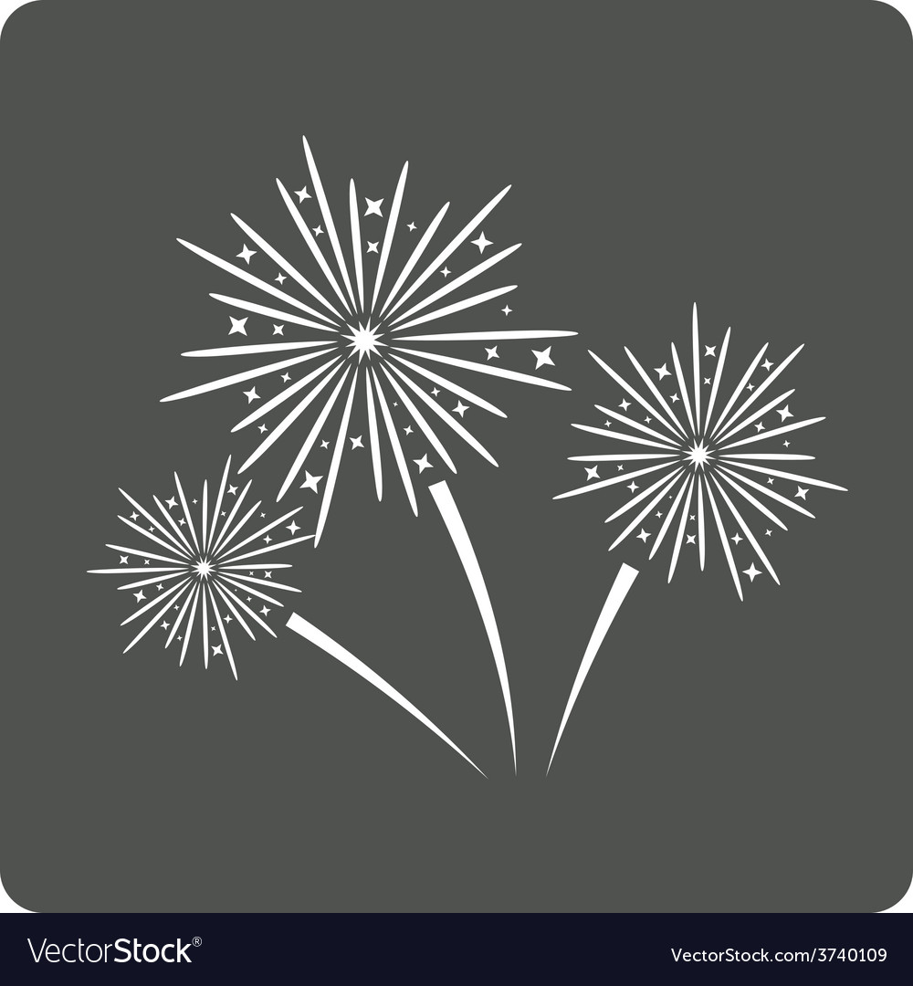 Fireworks sign icon