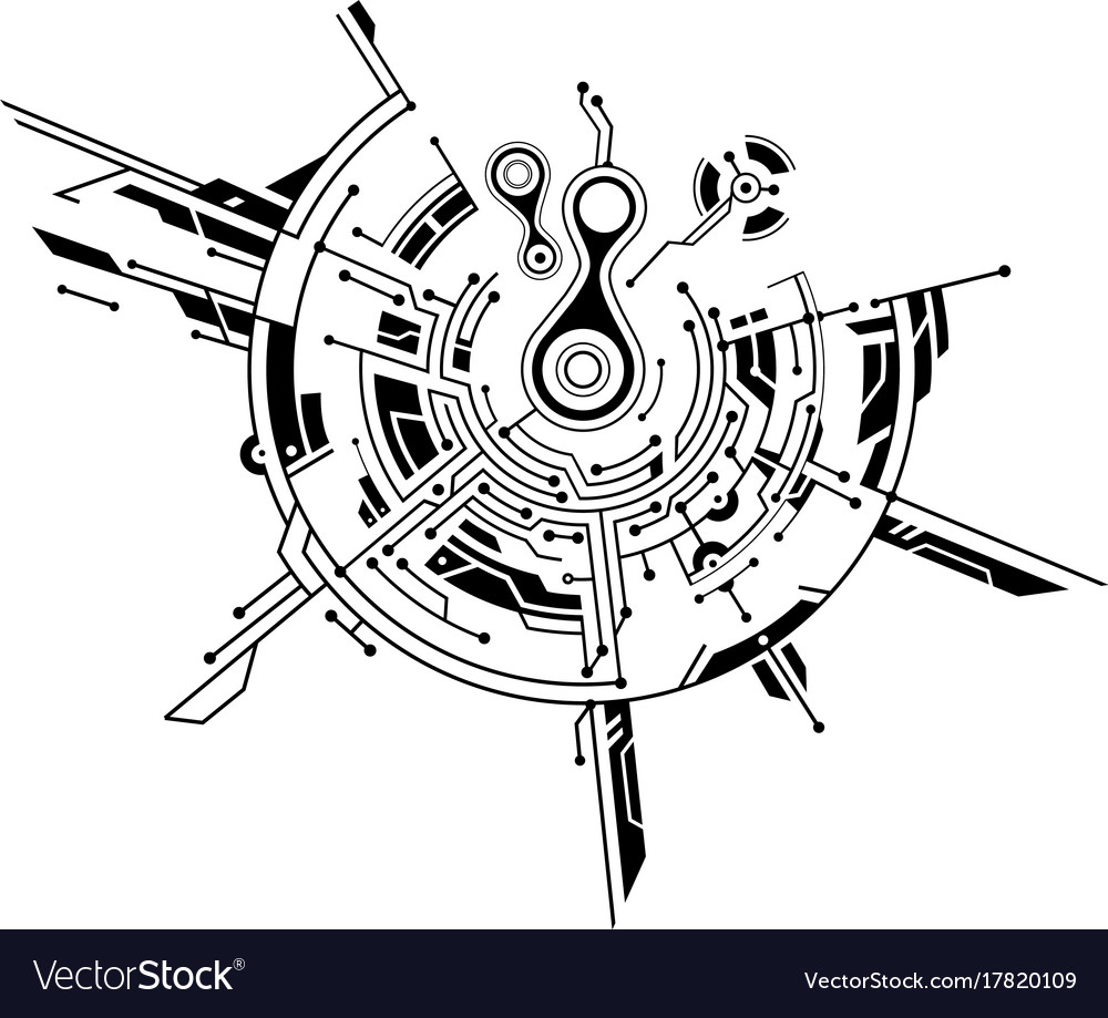 Graphic concept with circuit theme Royalty Free Vector Image
