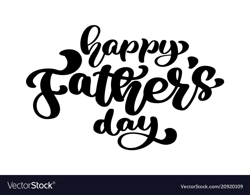 Happy fathers day badge on white background label