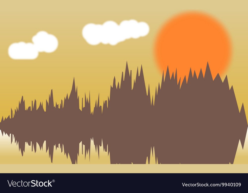 Horizontal of forest thickets vector image