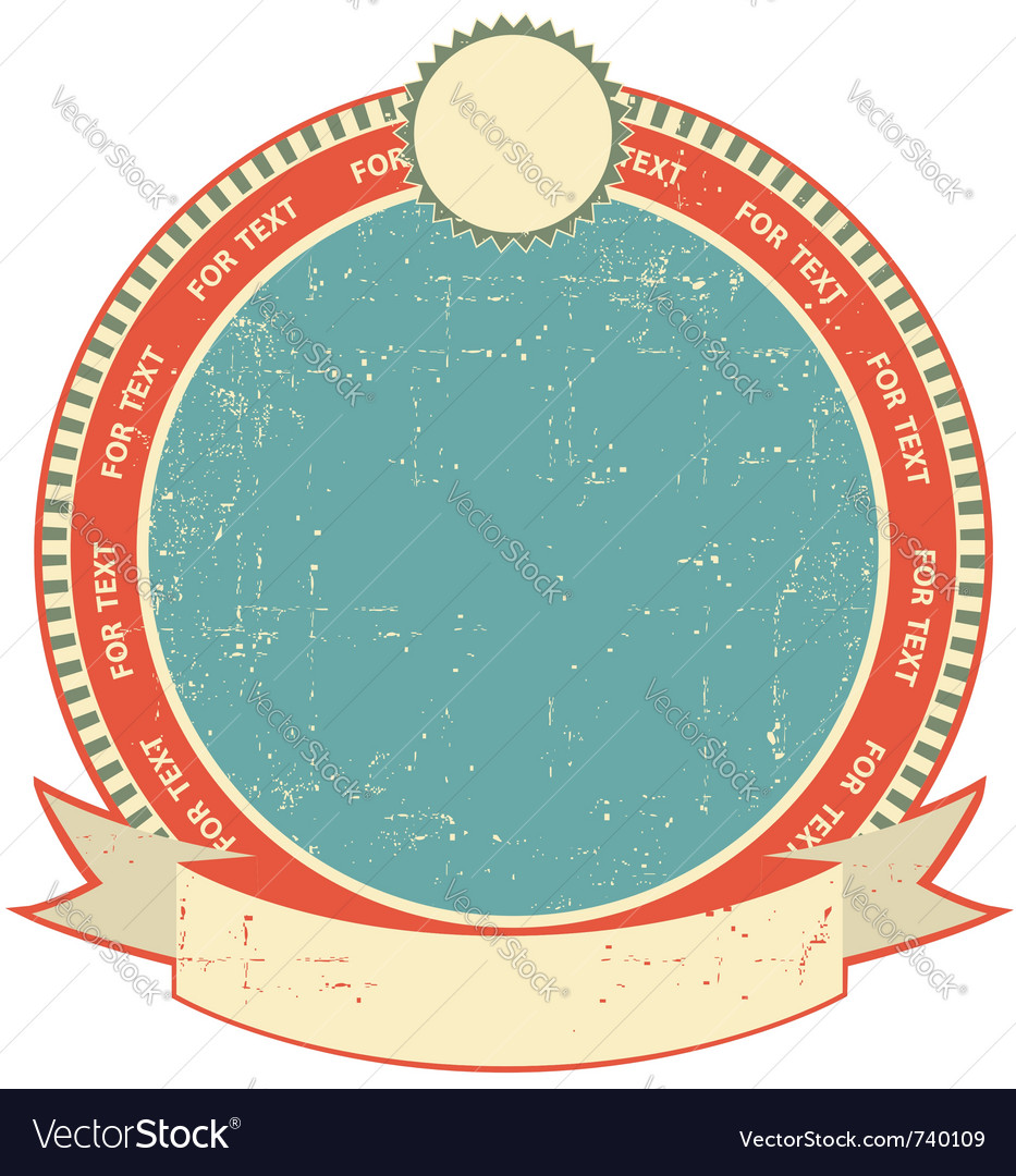 Label on old paper vector image