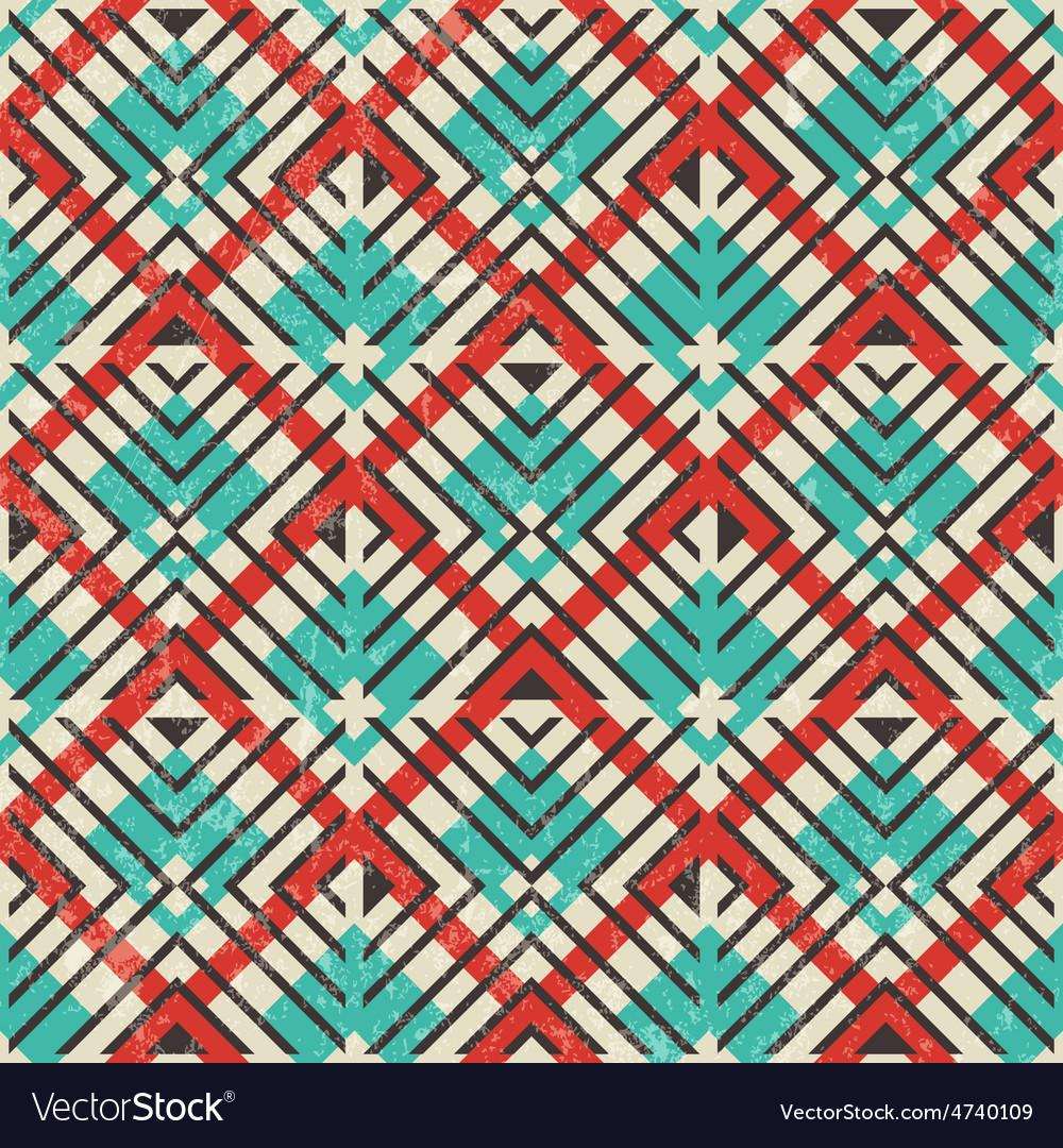 Retro geometric pattern Abstract seamless