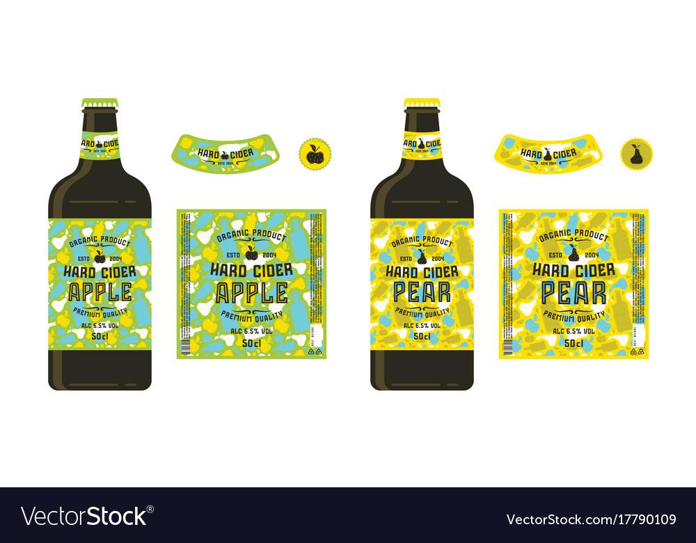 Set Of Templates Labels For Hard Cider