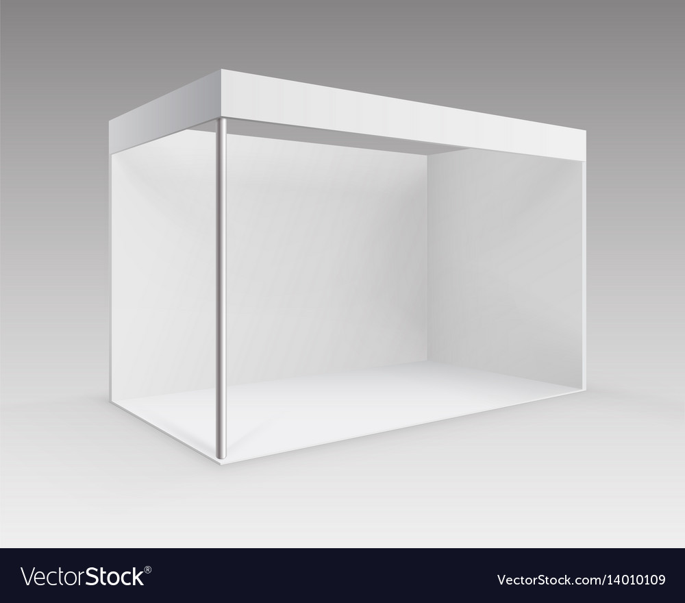 Small Exhibition Stand Vector : White indoor trade exhibition booth stand vector images