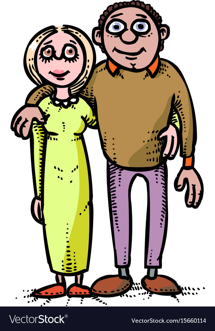 Cartoon image of family icon parents symbol