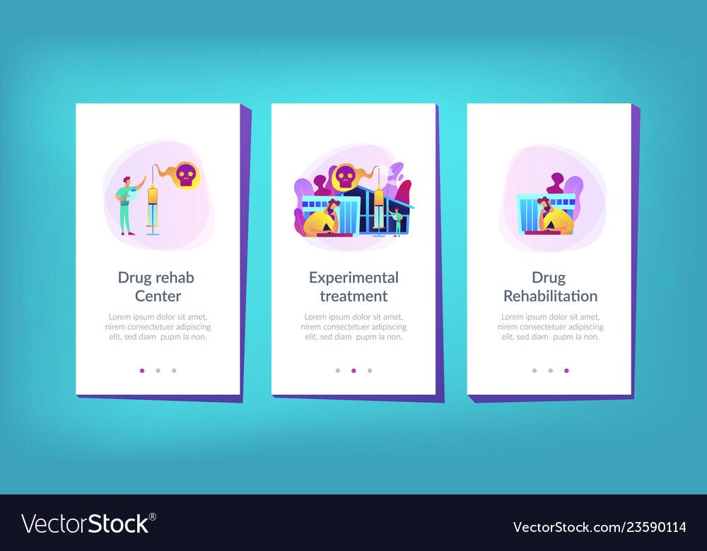 Drug rehab center app interface template