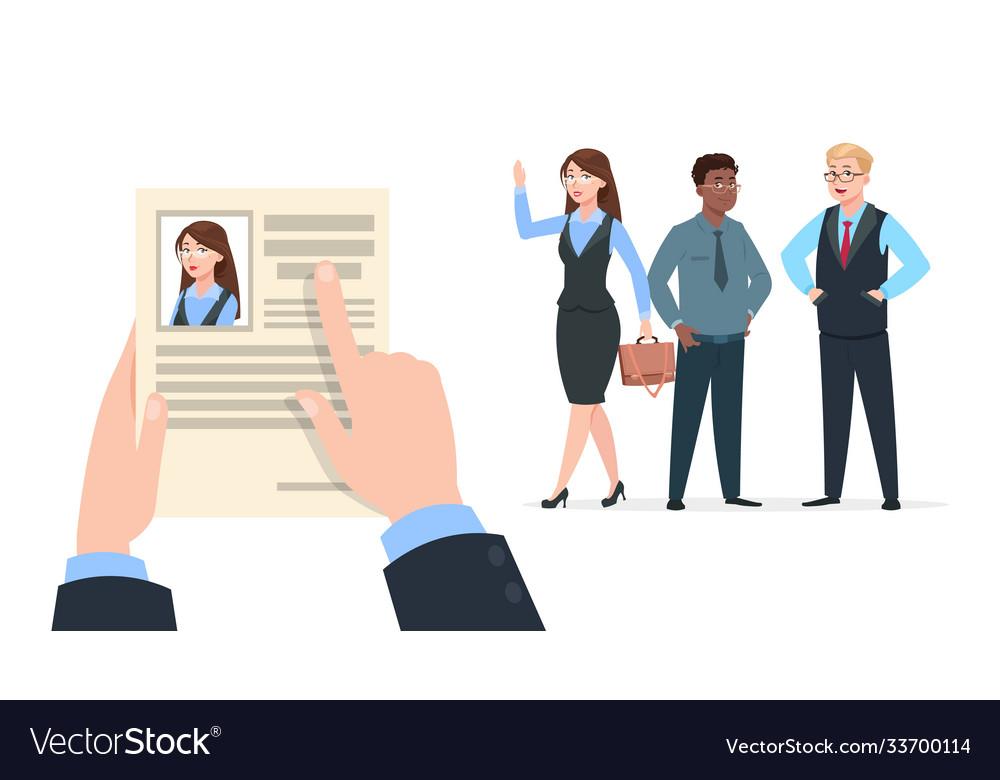 Office worker recruitment human resource hire