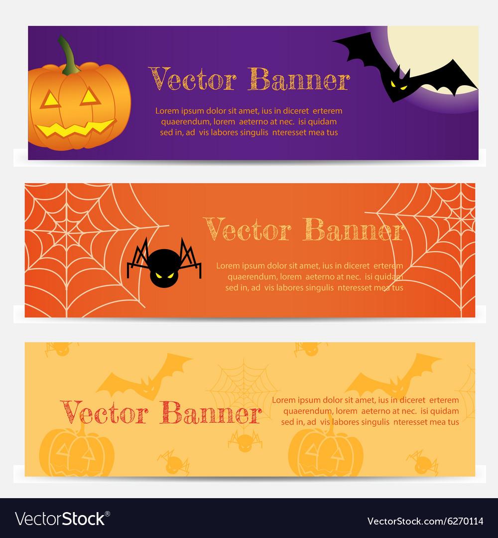 Set of Three Halloween banners