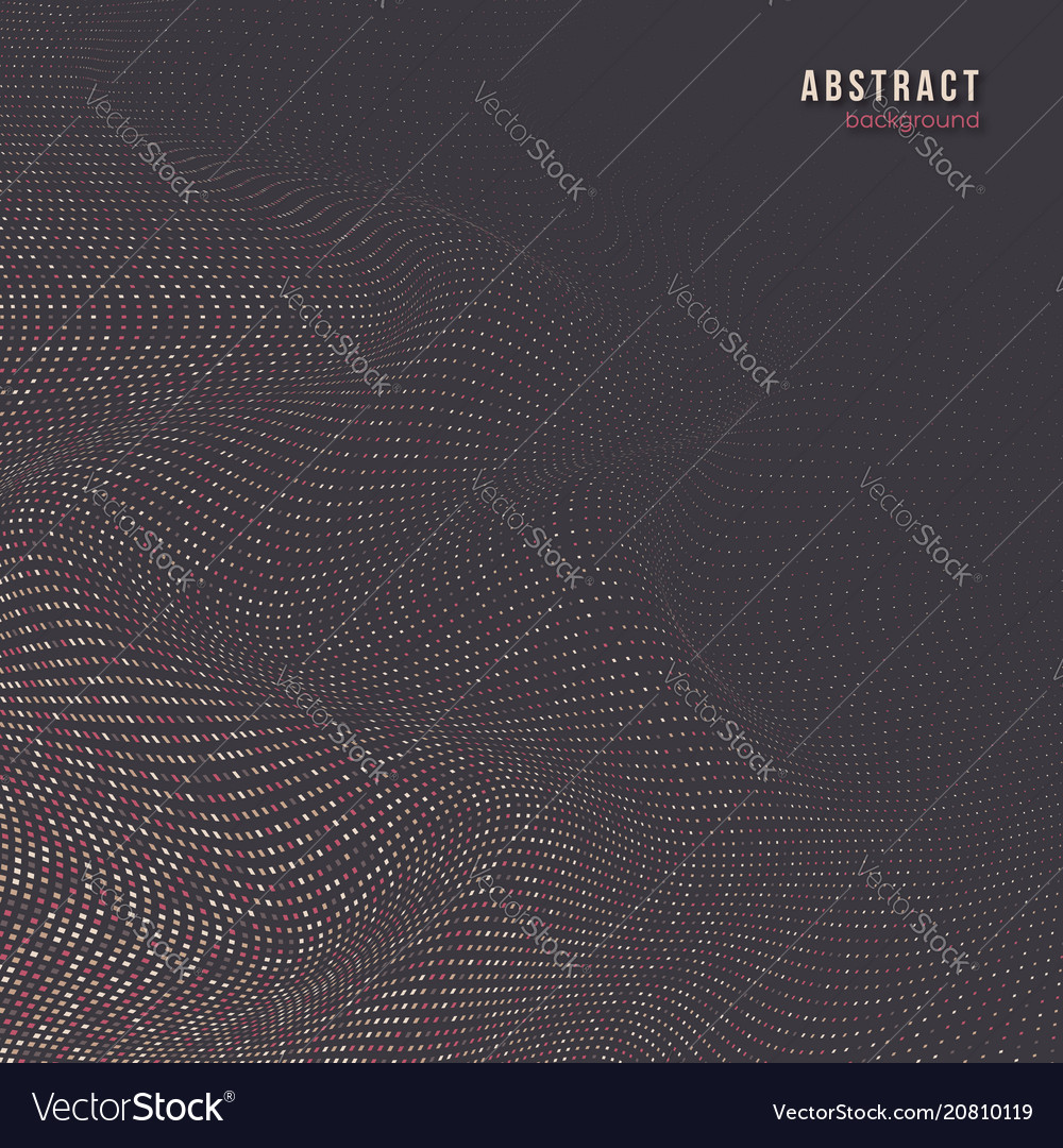 Abstract dotted wave background 3d effect