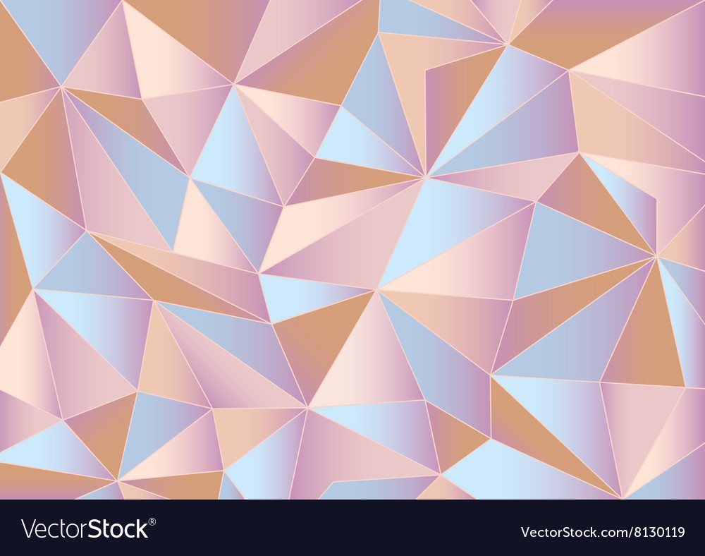 abstract pink triangles 3d background royalty free vector