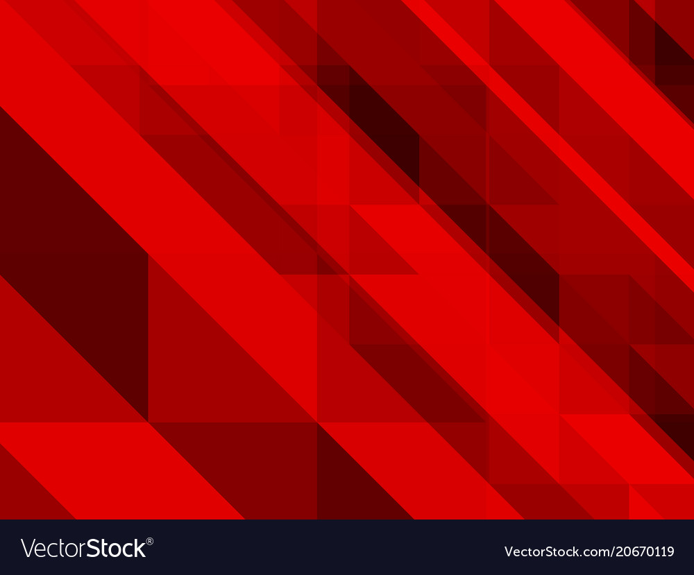 Abstract red background of triangles