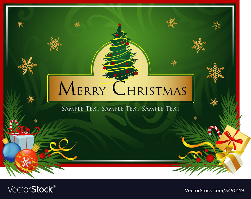 Classic christmas card royalty free vector image classic christmas card vector image m4hsunfo