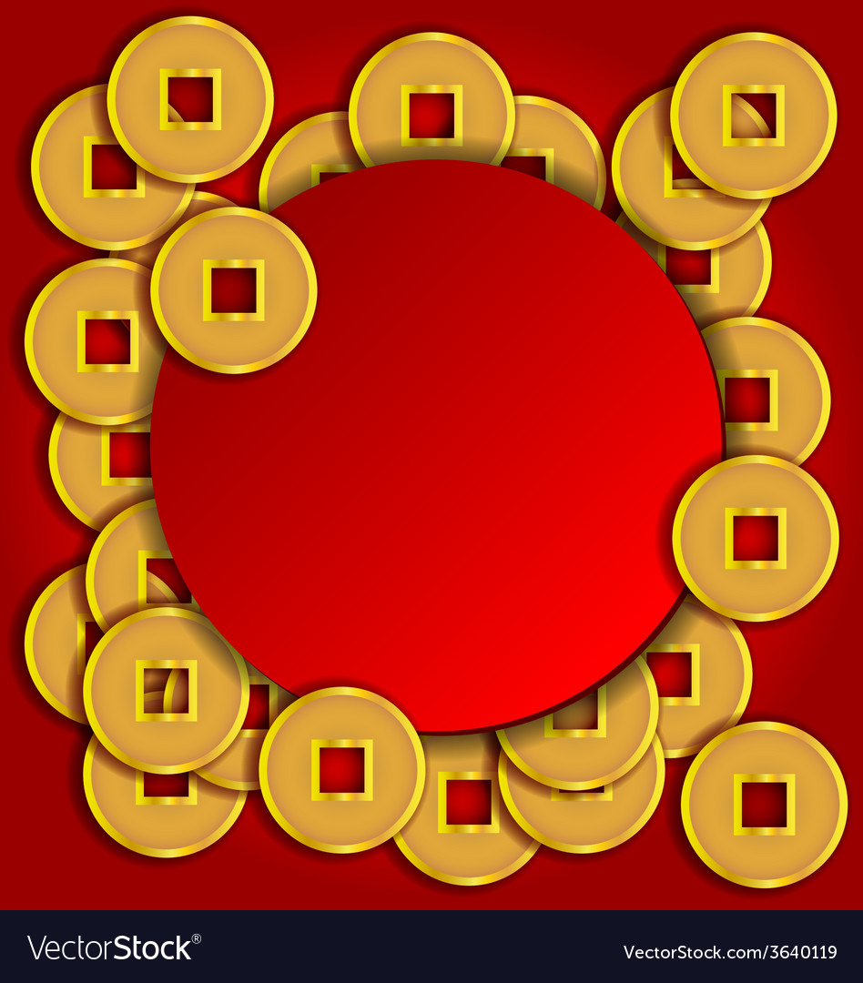 Gold coins background for Chinese New Year card