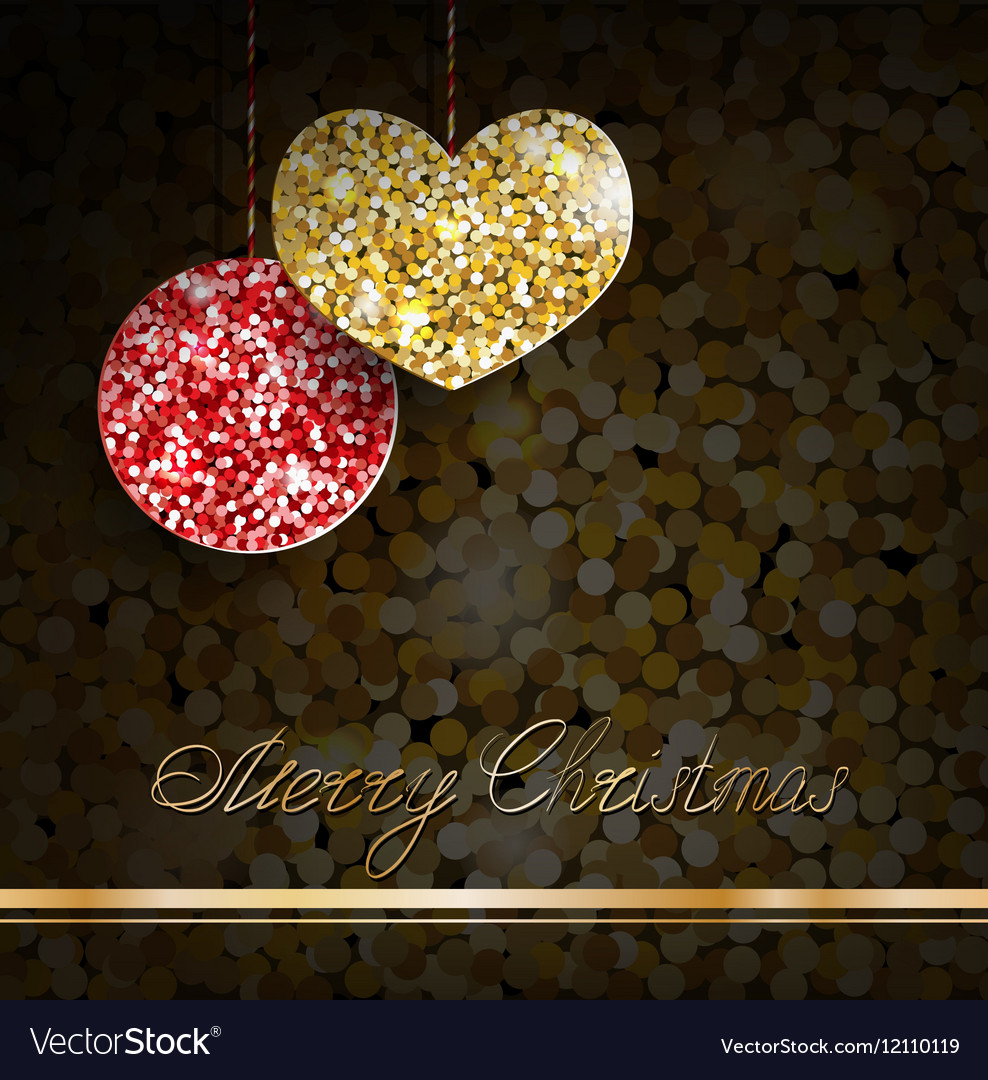 Gold glitter christmas decorations