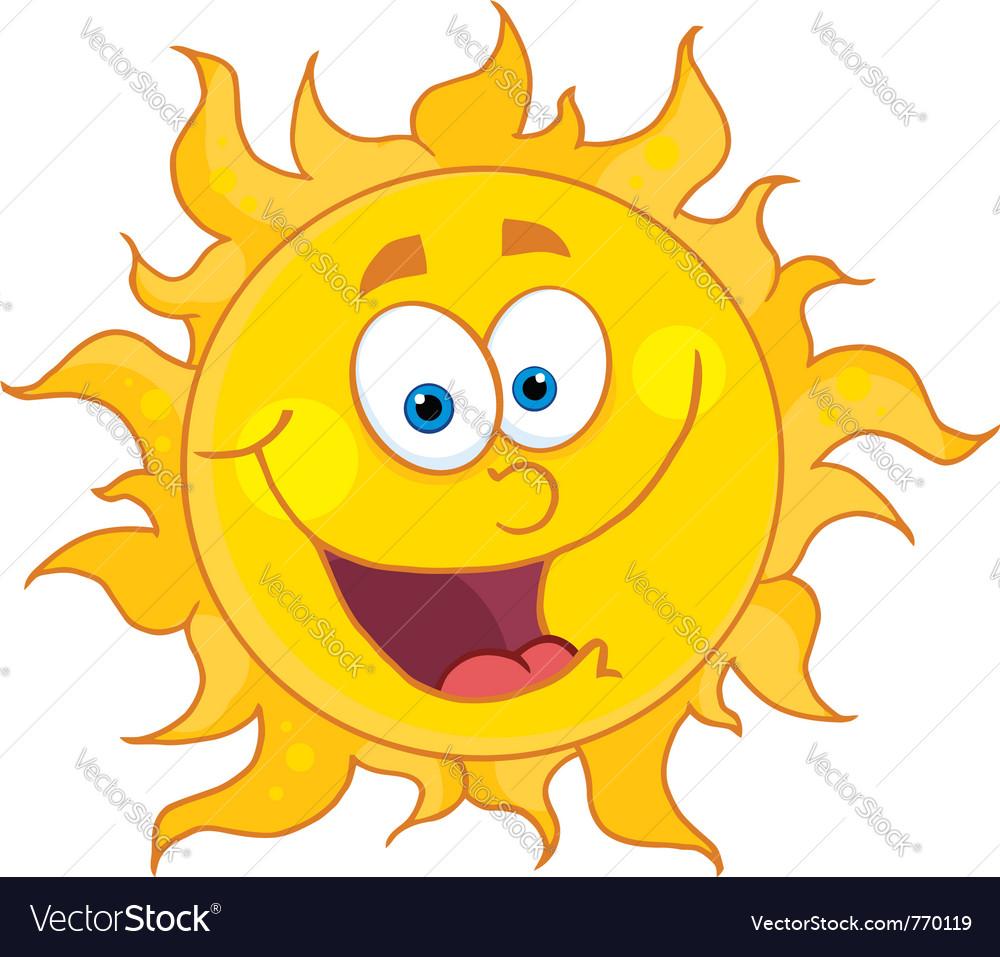 happy sun royalty free vector image vectorstock