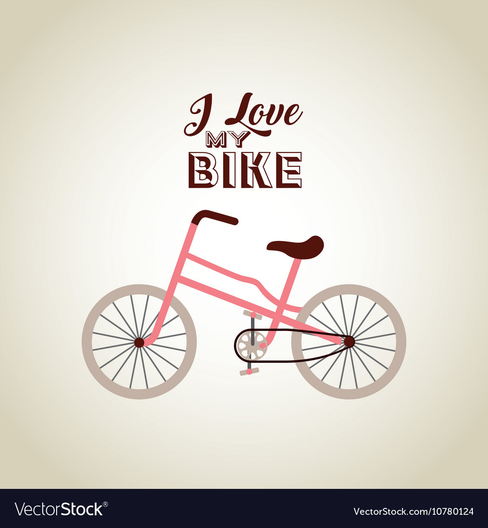Bicycle vehicle retro icon
