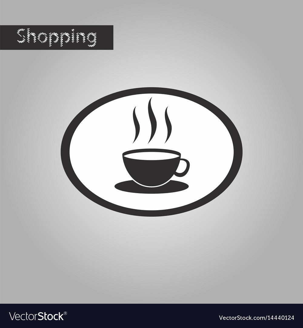 Black and white style icon logo coffee cup