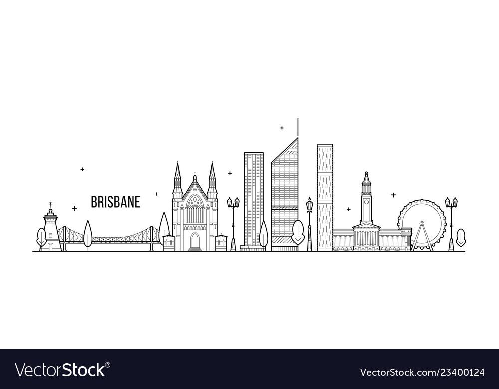 Brisbane a big skyline queensland australia