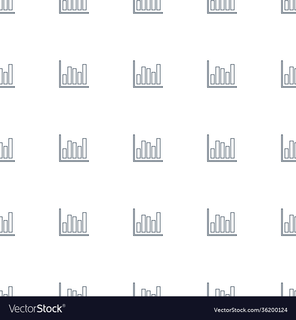 Chart icon pattern seamless white background