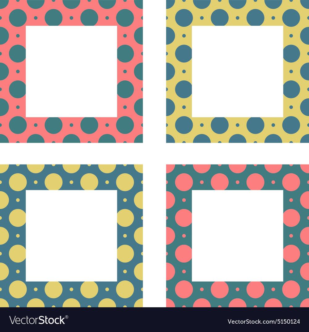 cea82796f45 Cute frames set Vintage frames set Royalty Free Vector Image