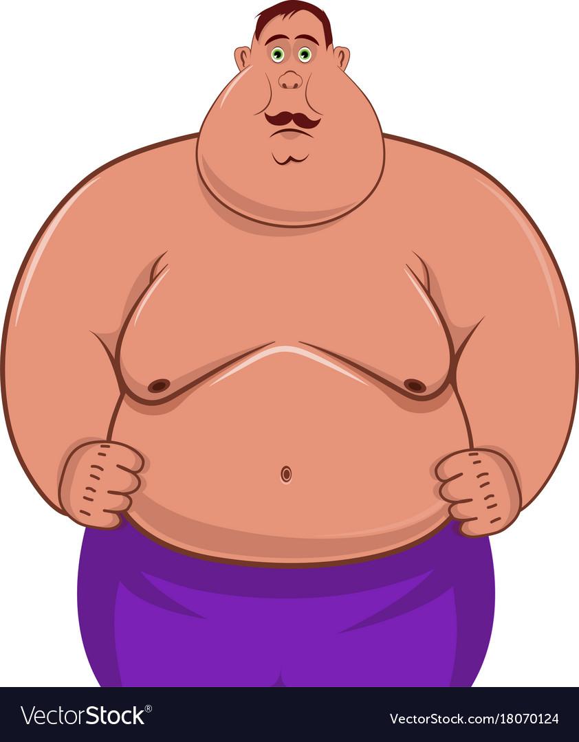 fat man cartoon character royalty free vector image  vectorstock