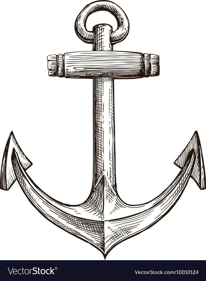 Hand drawn sketch anchor