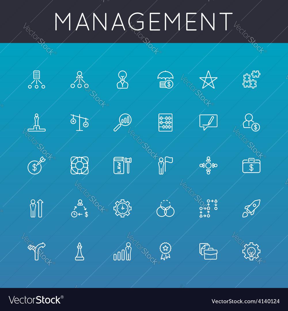 Management Line Icons