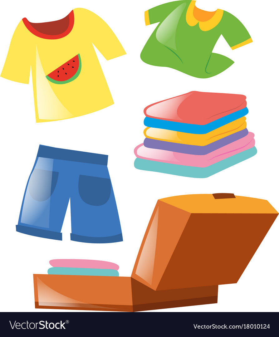 Set of different clothes vector image
