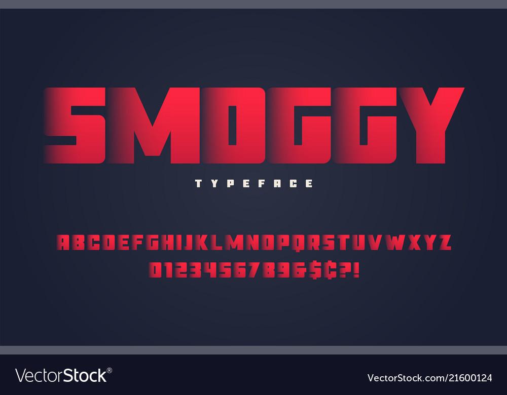 Smoggy heavy display font design alphabet