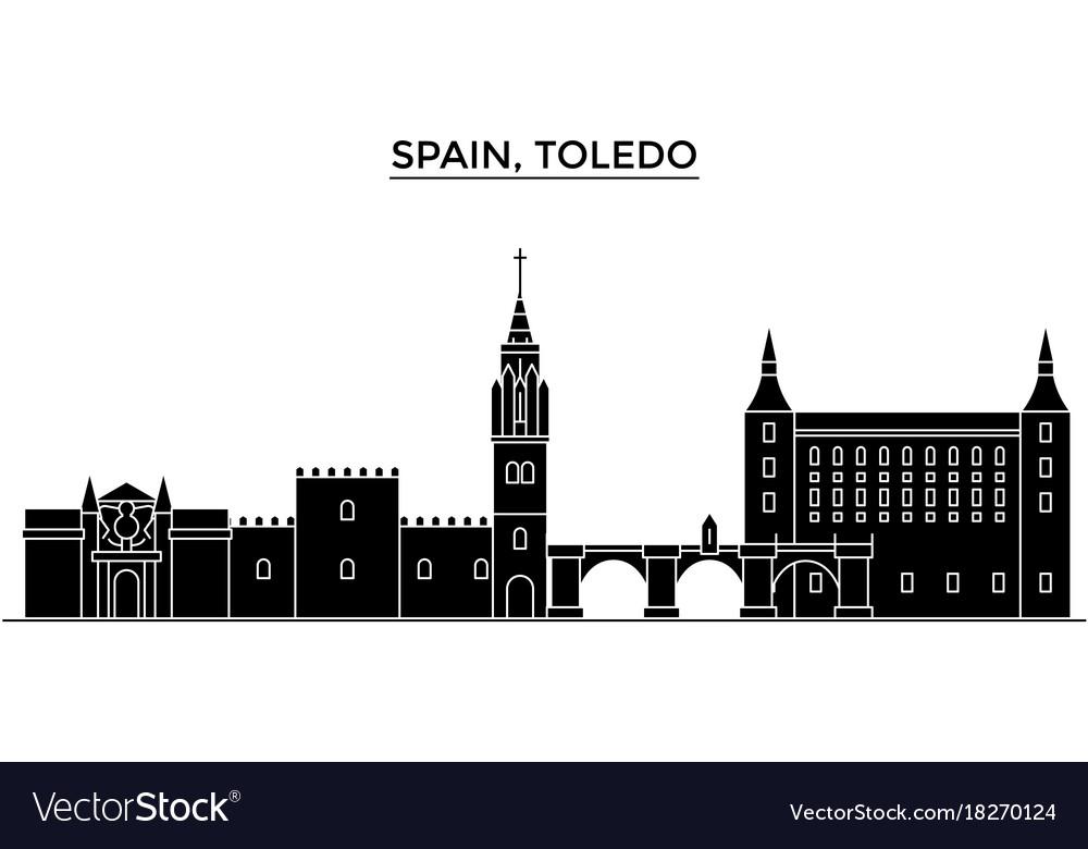 spain toledo architecture city skyline royalty free vector