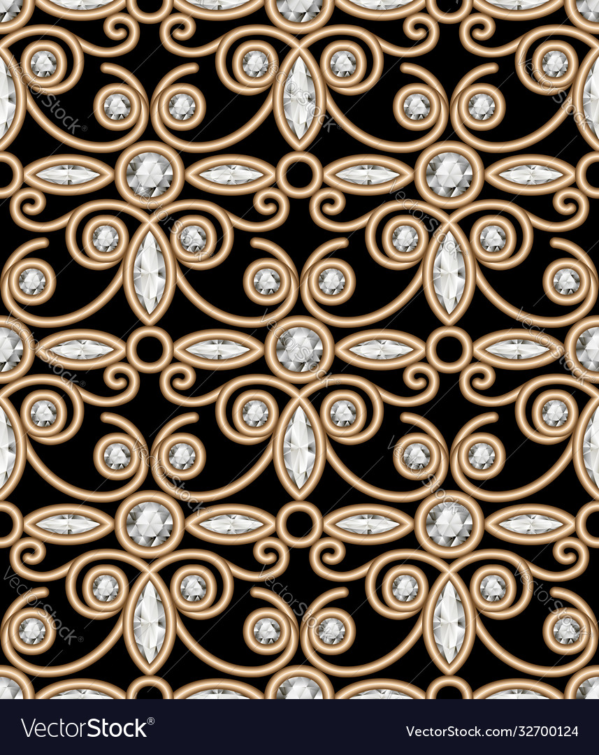 Vintage gold jewellery pattern