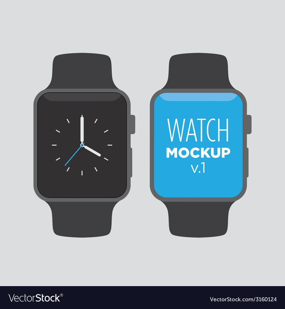 Watch mockup v1 vector image