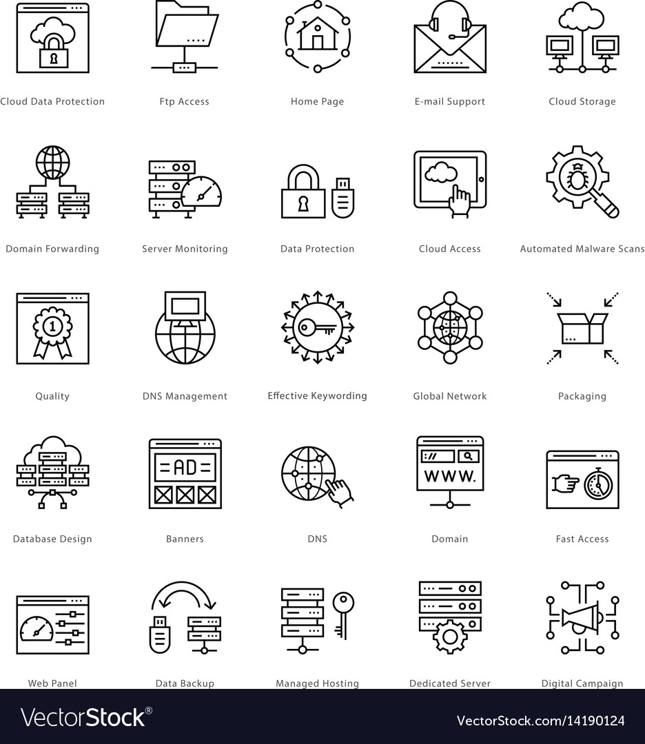 Web and seo line icons 58