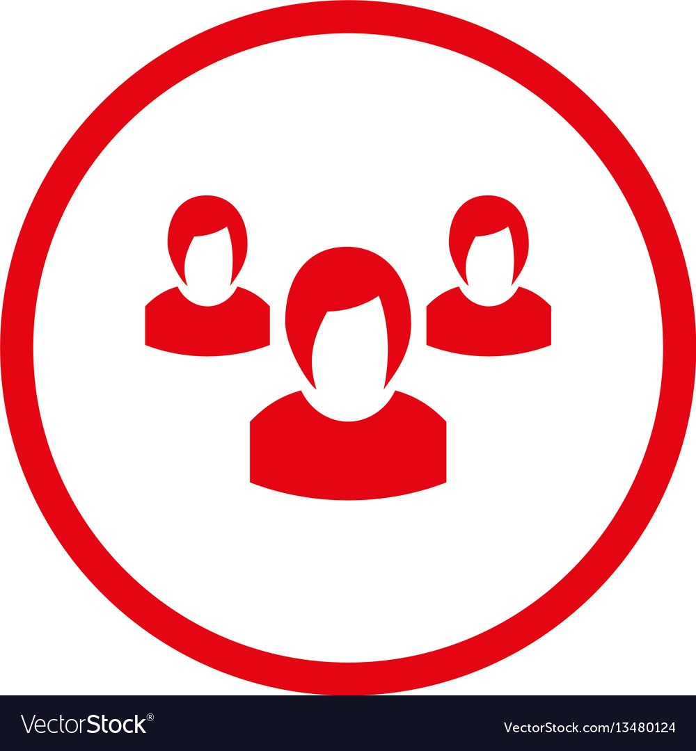 Woman group rounded icon