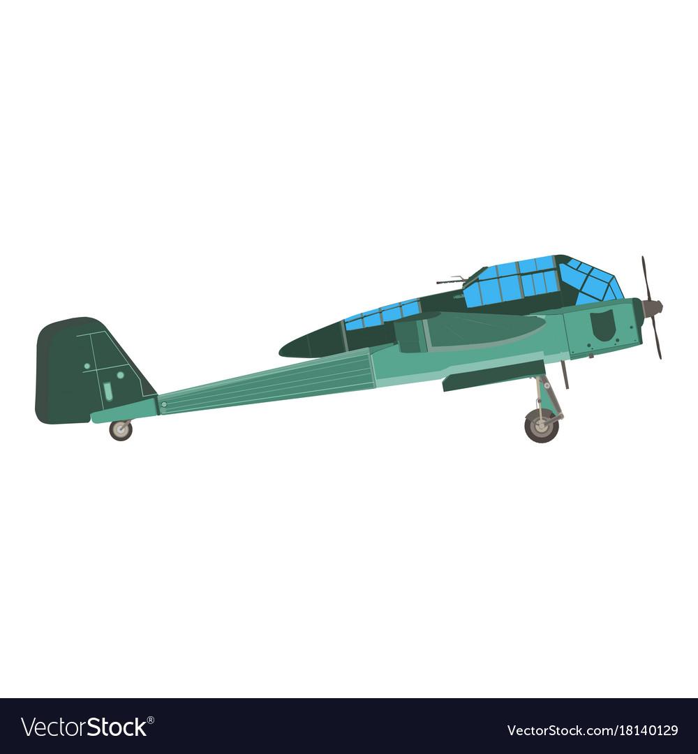 Biplane airplane plane old vintage retro aircraft vector image
