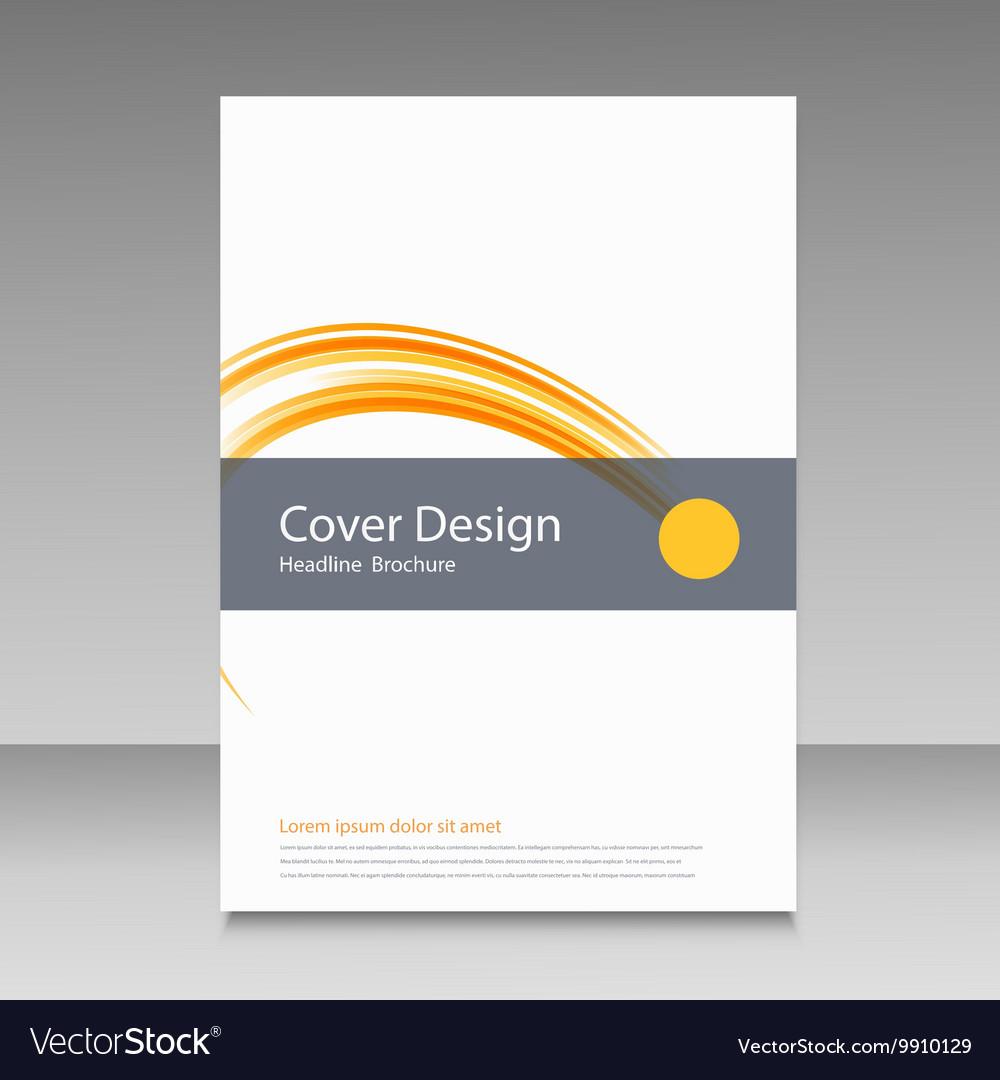Brochure template cover color line design