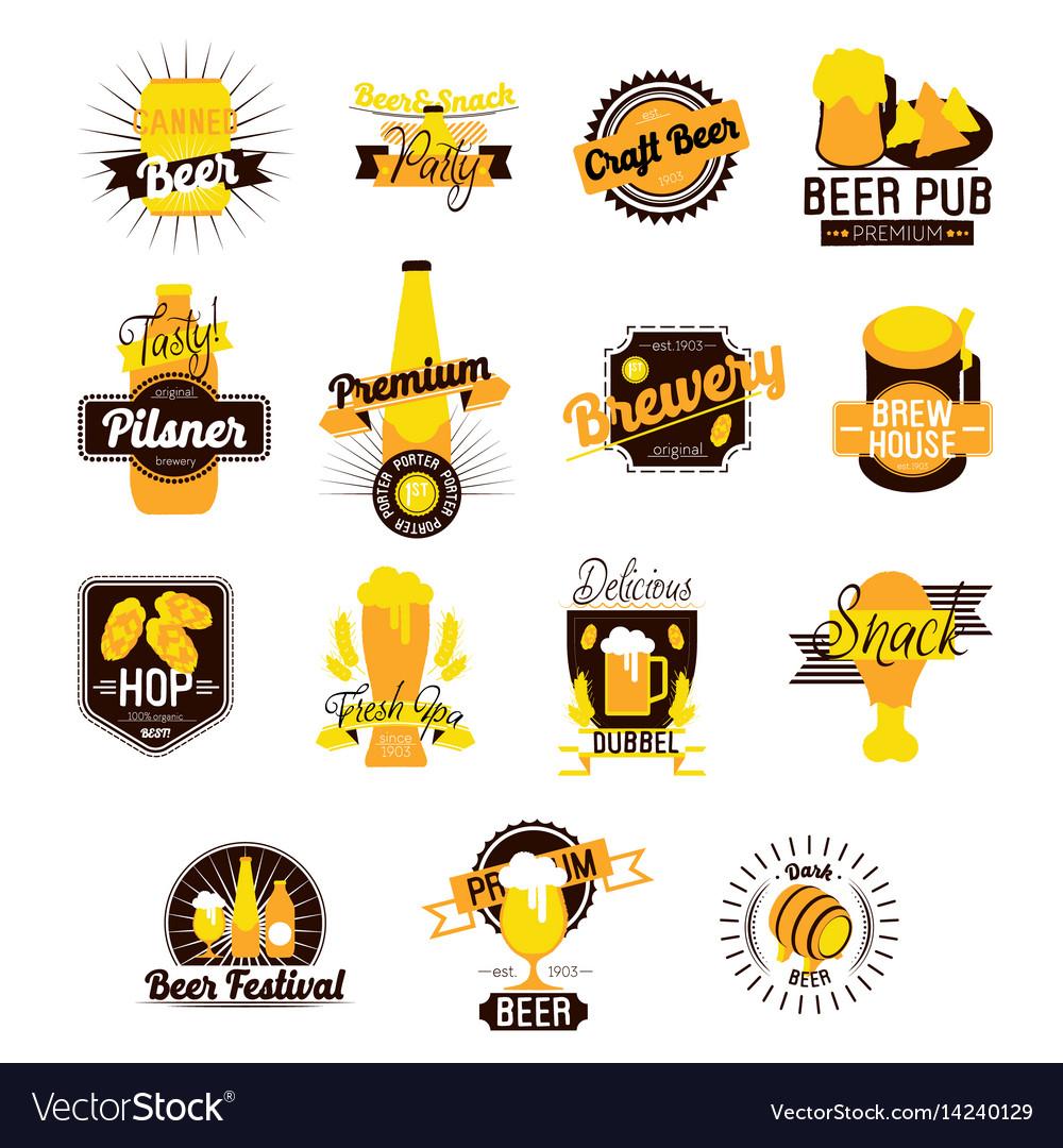Craft beer hand drawn logos