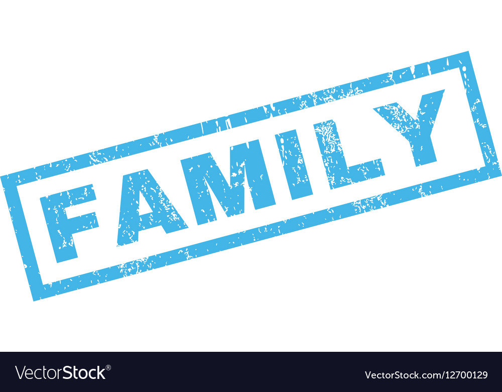 family rubber stamp royalty free vector image vectorstock