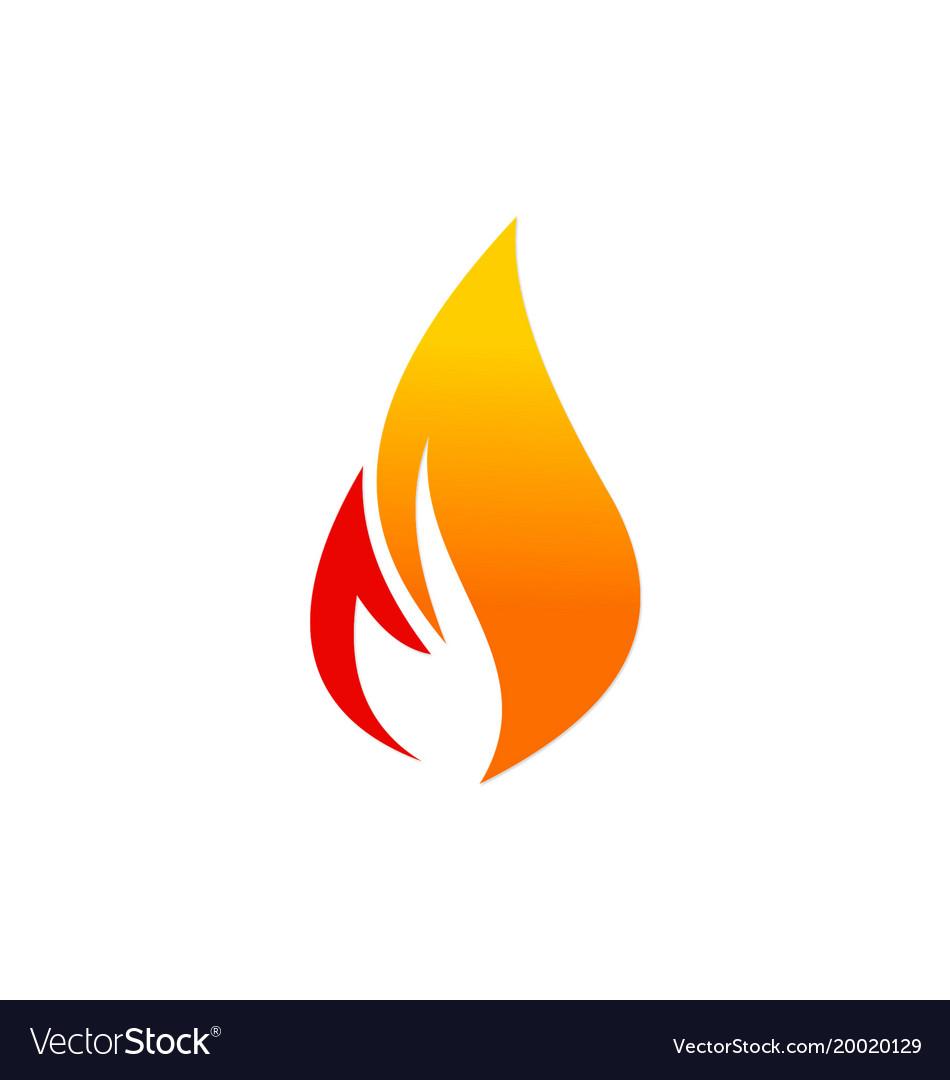 Fire flame logo Royalty Free Vector Image - VectorStock