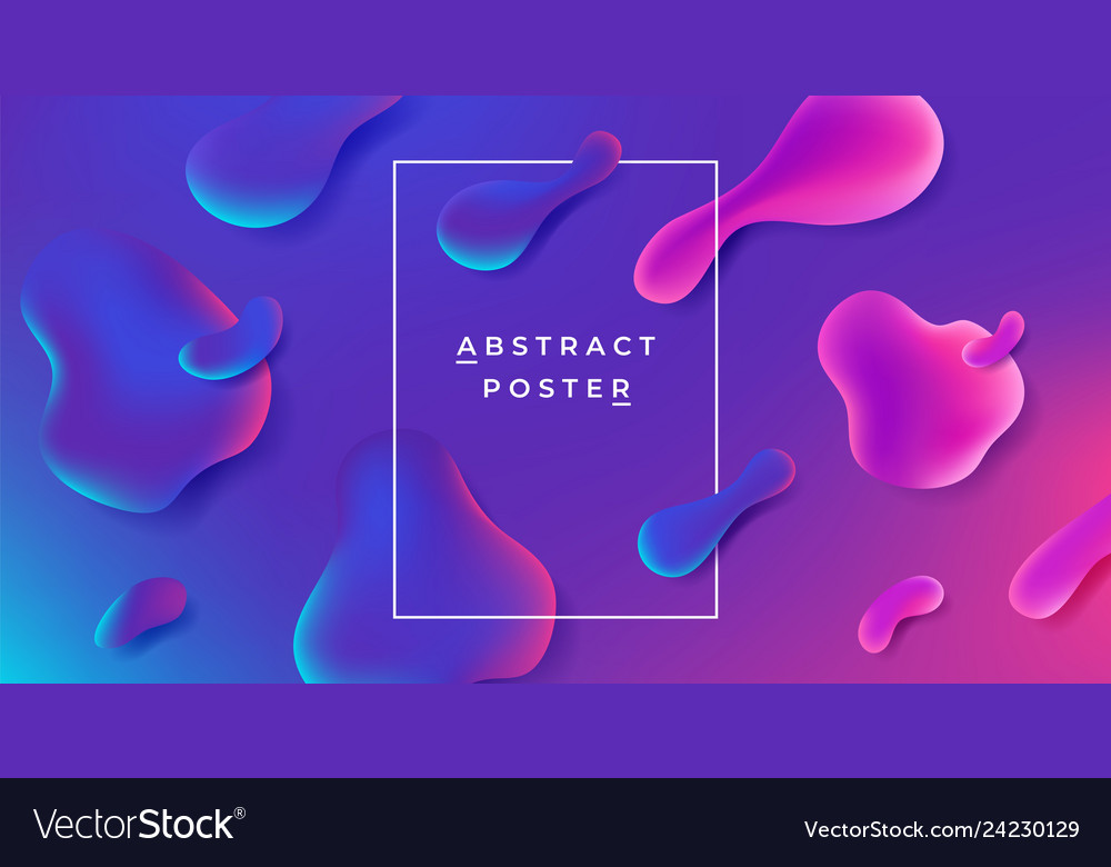 Fluid background abstract gradient shape