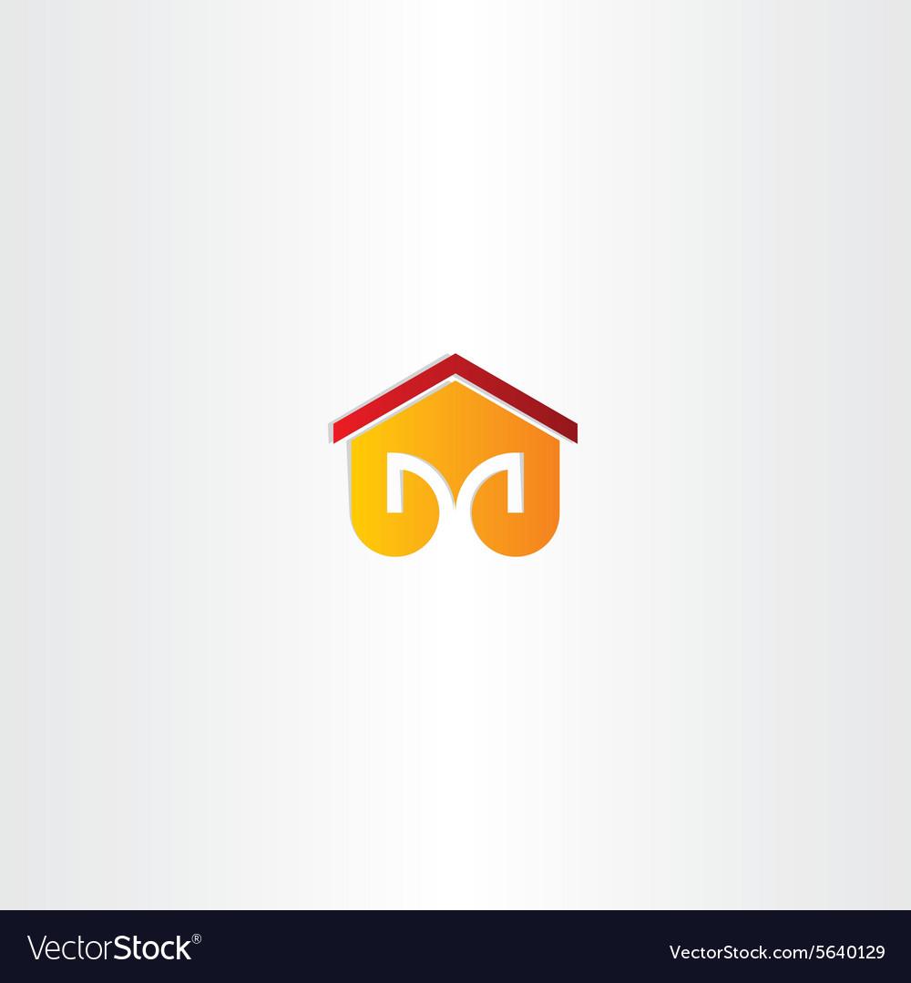 Letter m house building icon